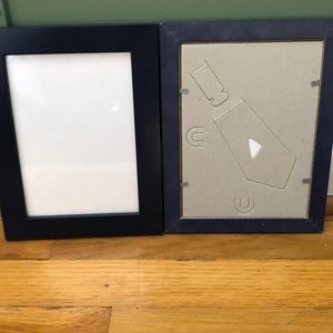 NWOT Two navy blue wooden 5x7 photo frames